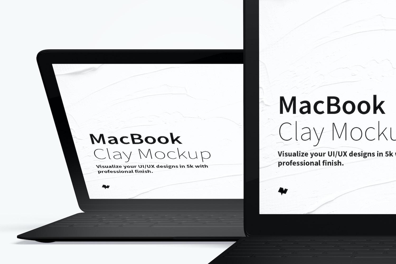 Maqueta de MacBook Multicolor, Vista Frontal 03 (3) por Original Mockups en Original Mockups