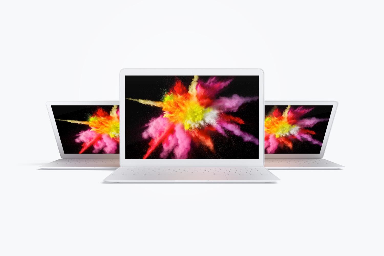 Maqueta de MacBook Multicolor, Vista Frontal 03 (4) por Original Mockups en Original Mockups