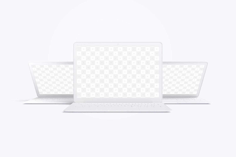 Maqueta de MacBook Multicolor, Vista Frontal 03 (2) por Original Mockups en Original Mockups