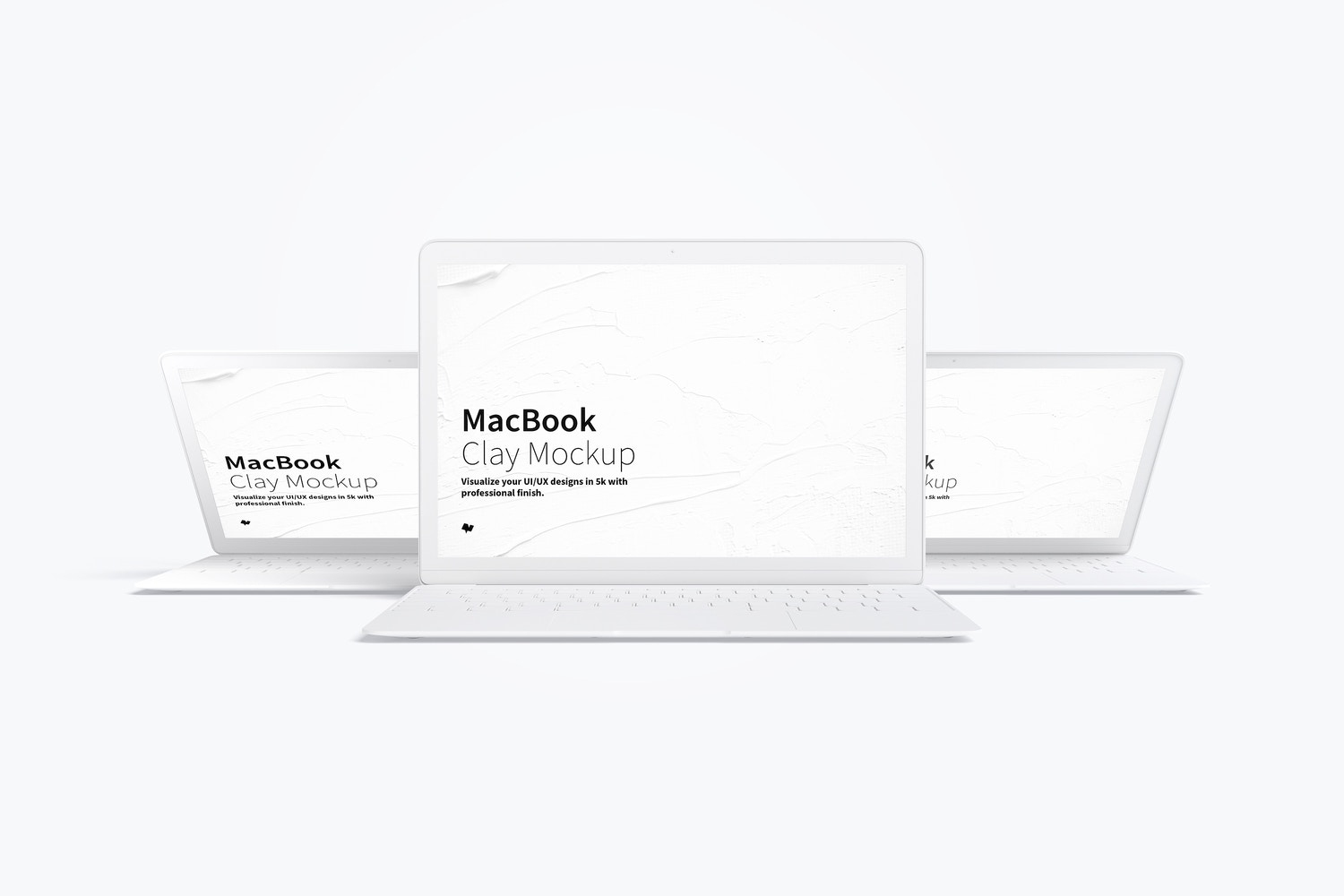 Clay MacBook Mockup, Front View 03 by Original Mockups on Original Mockups