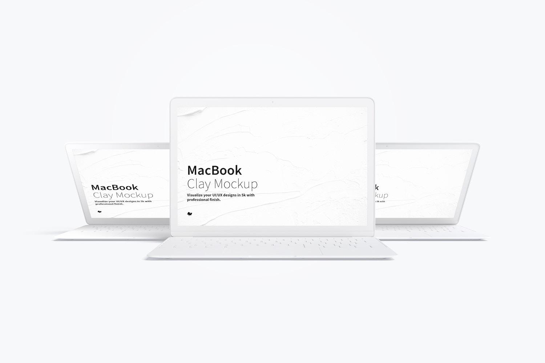 Maqueta de MacBook Multicolor, Vista Frontal 03 (1) por Original Mockups en Original Mockups
