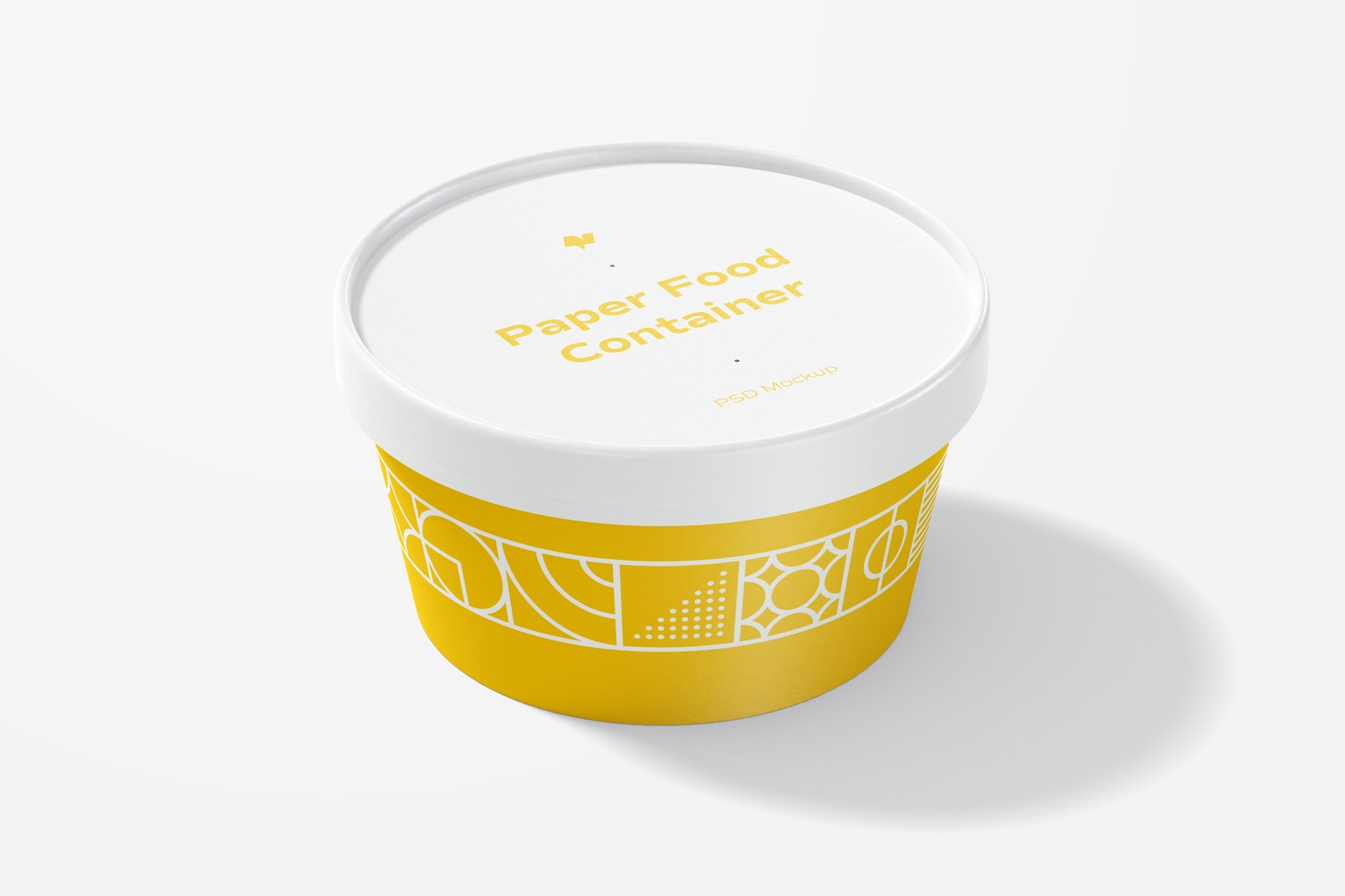 Round Paper Food Container Mockup
