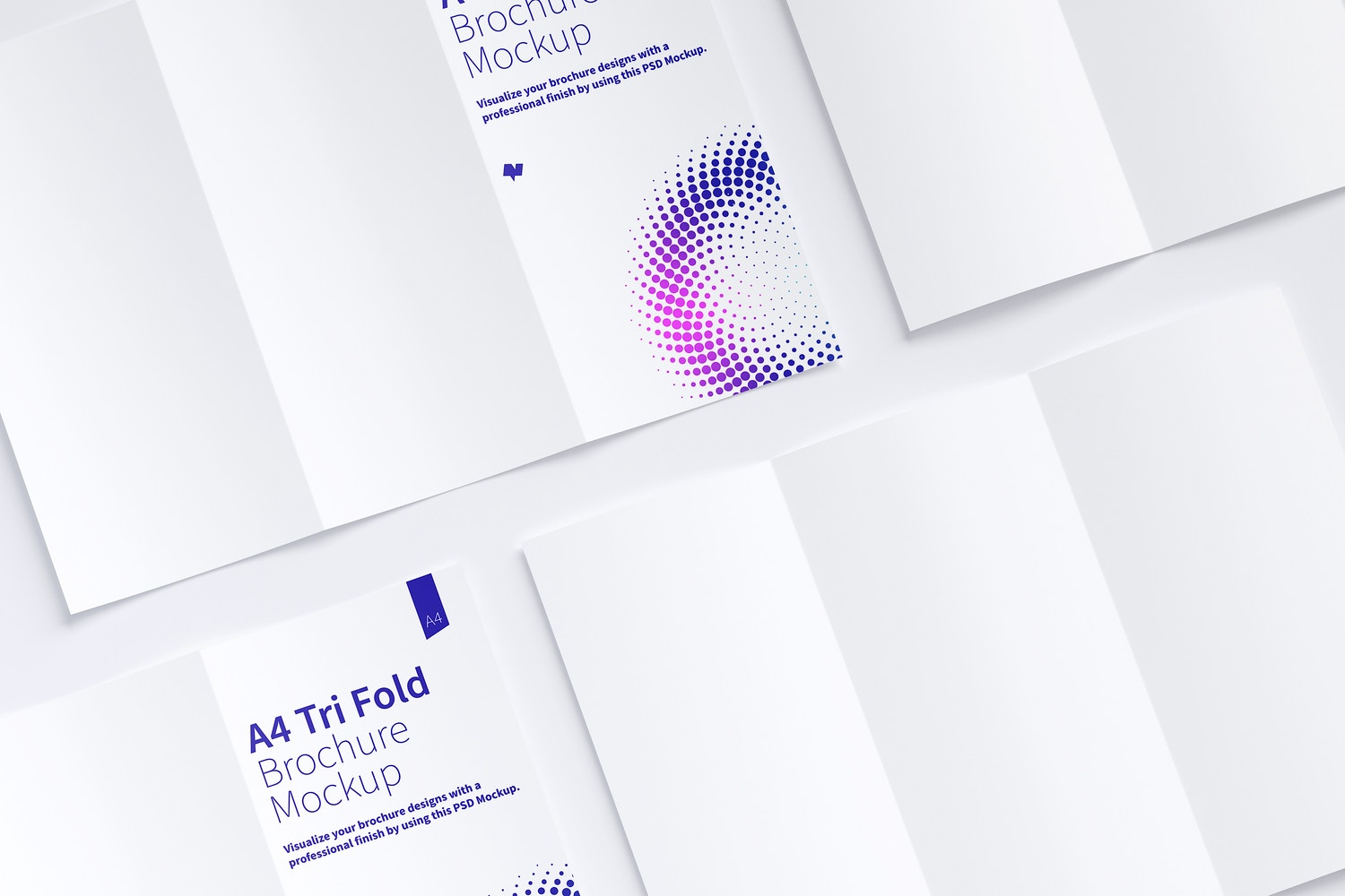A4 Trifold Brochure Mockup 07 by Original Mockups on Original Mockups