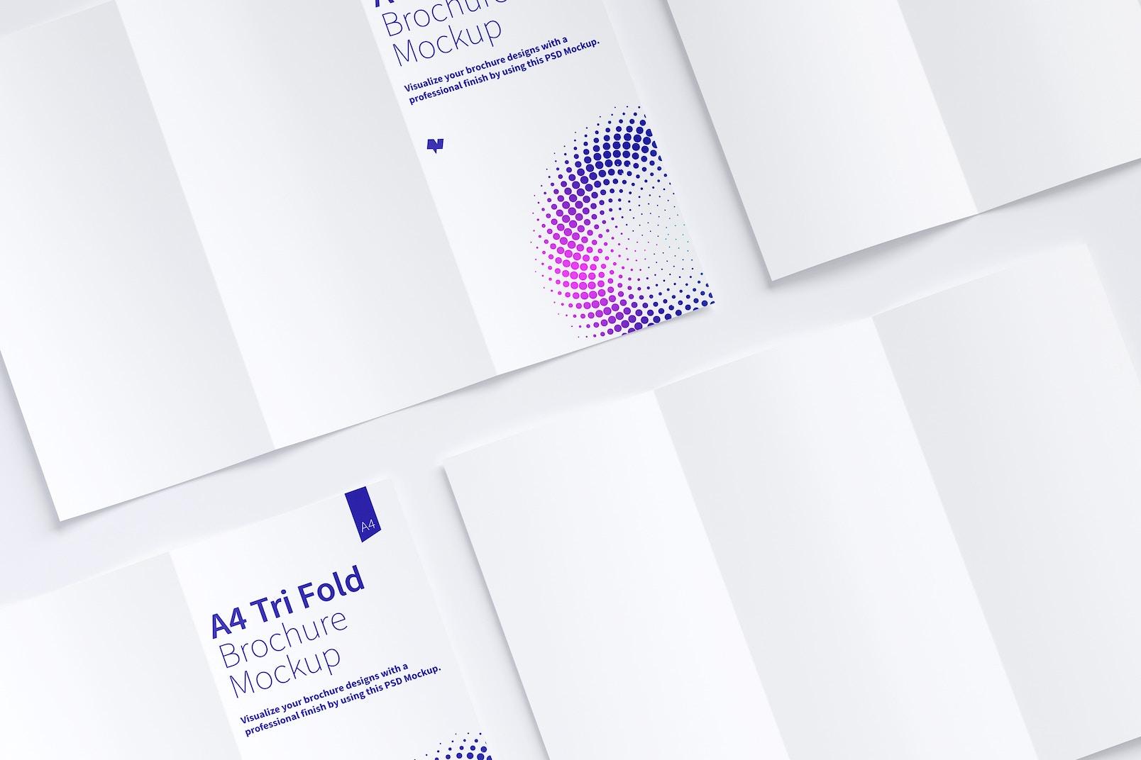 A4 Trifold Brochure Mockup 07