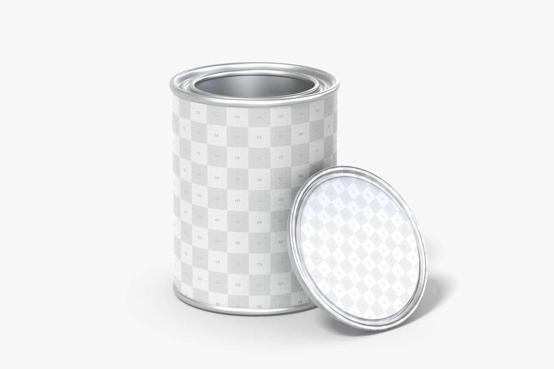 Paint Tin Can Mockup