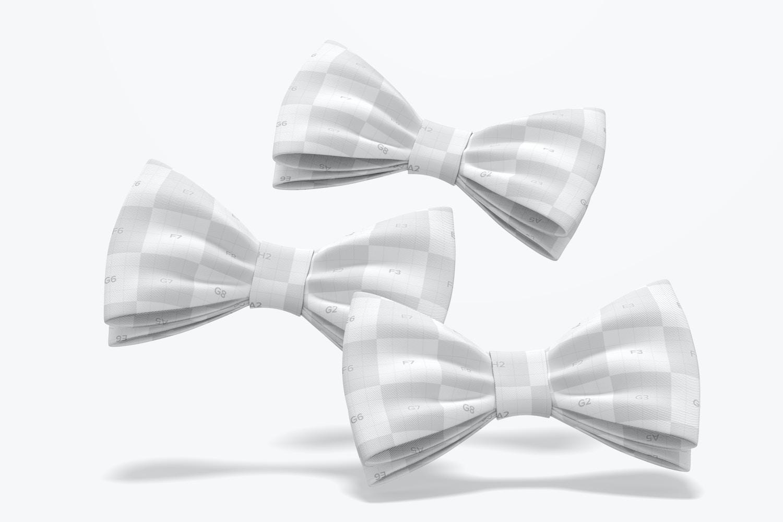 Bow Tie Set Mockup