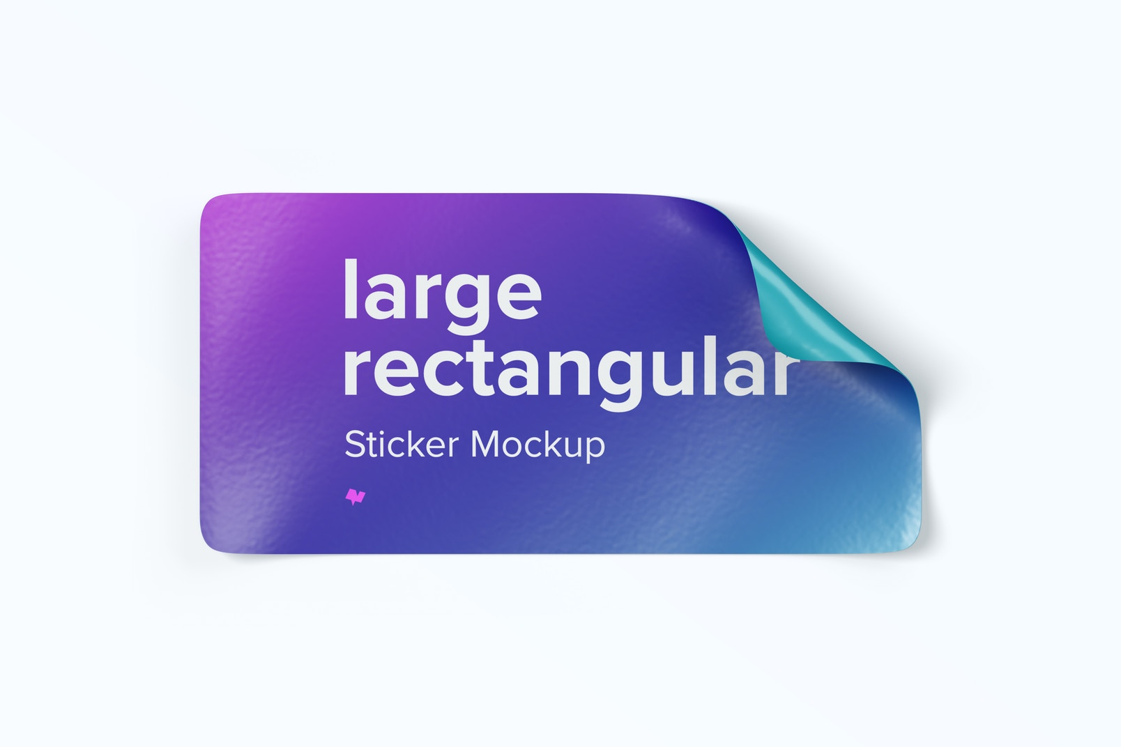Large Rectangular Sticker Mockup, Top View 02