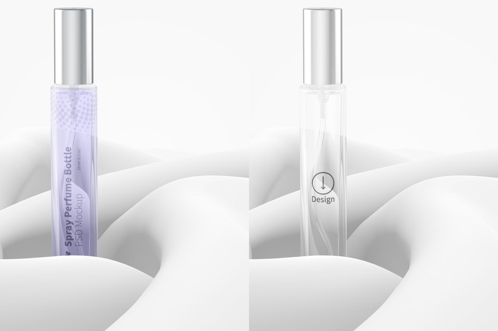 10 ml Spray Perfume Bottle Mockup