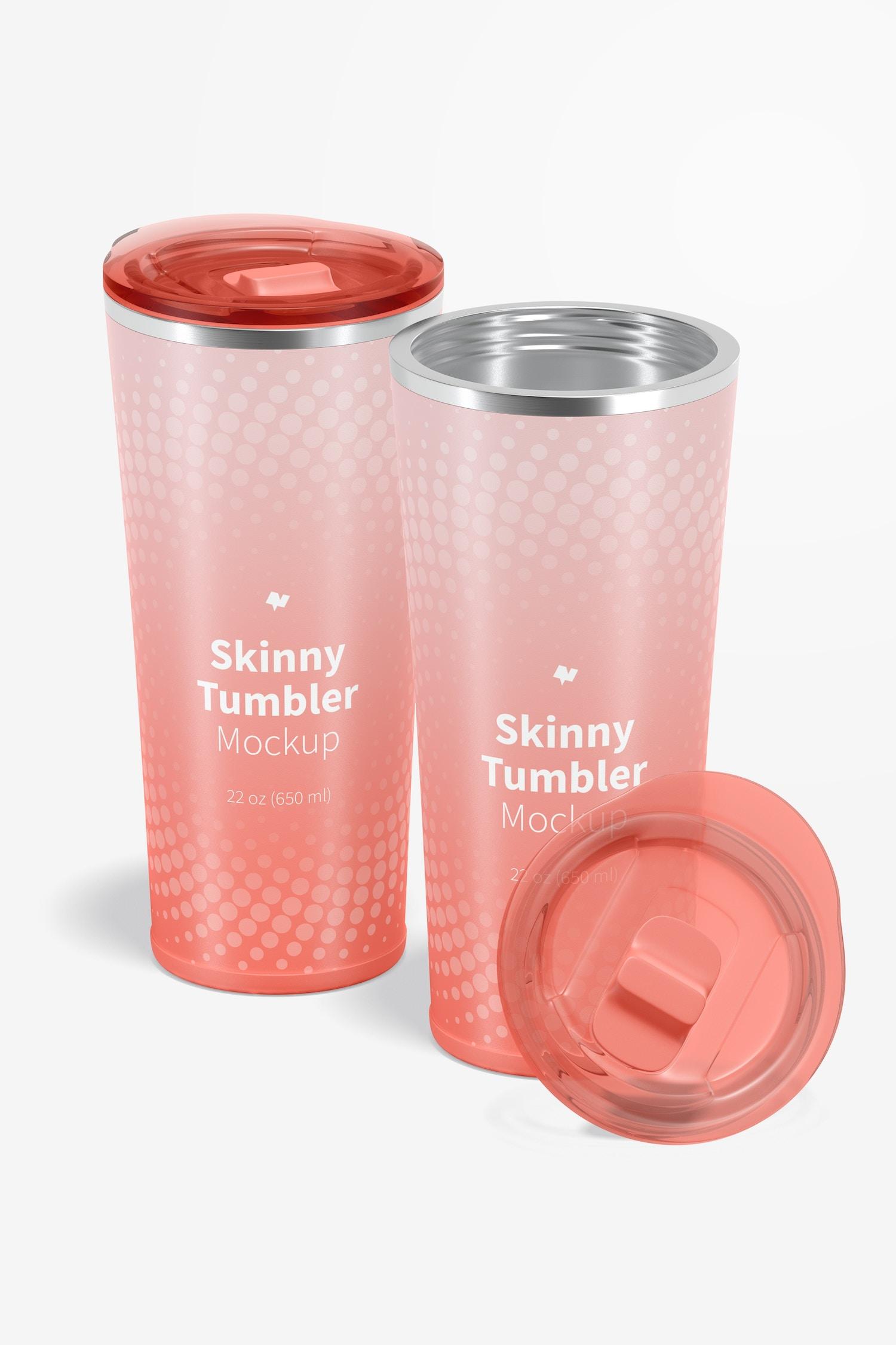 22 oz Skinny Tumblers Mockup