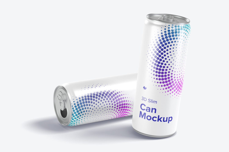 3D Slim Can PSD Mockup 01