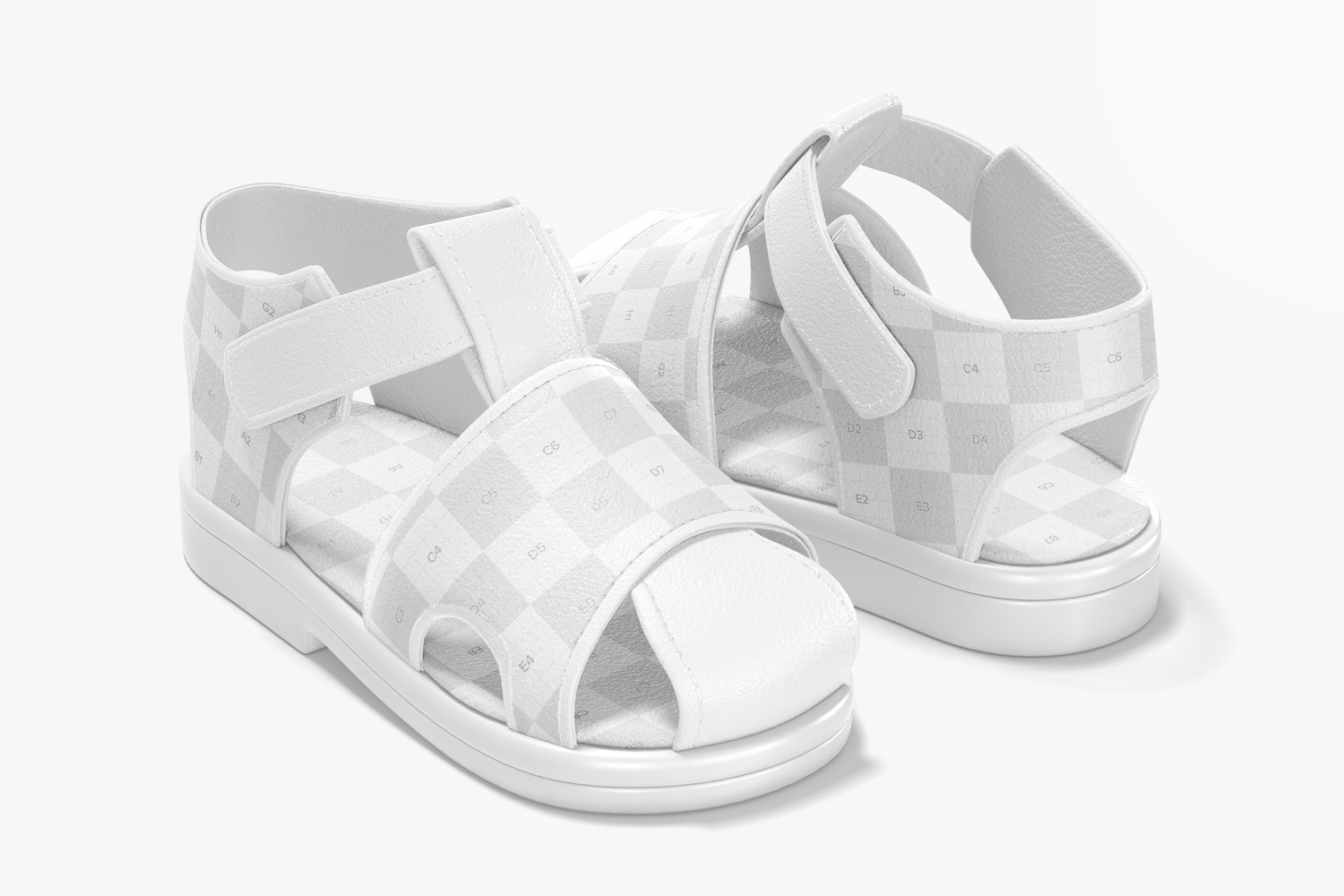 Baby Shoes Mockup, Perspective