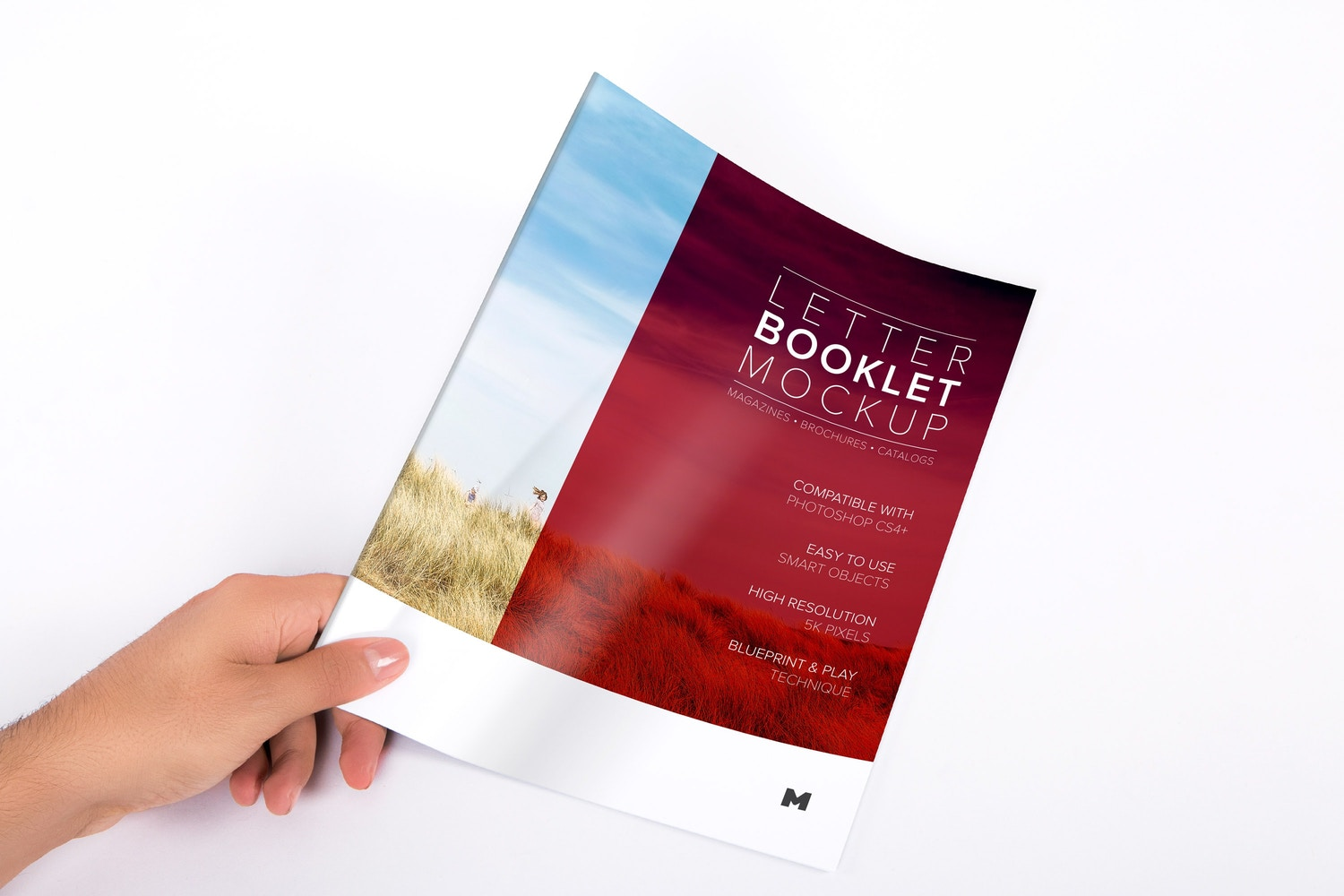 letter booklet cover mockup also for catalog magazine and brochures