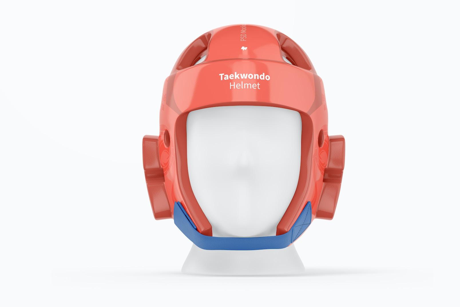 Taekwondo Helmet Mockup, Front View