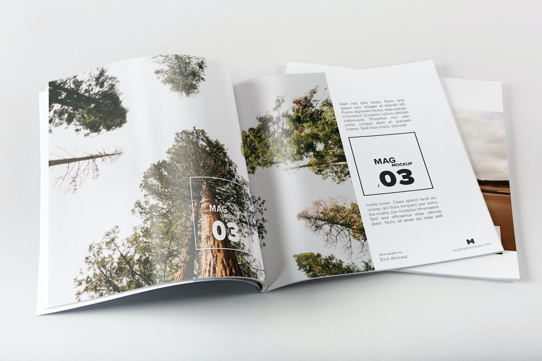 Square Magazine Spread Mockup