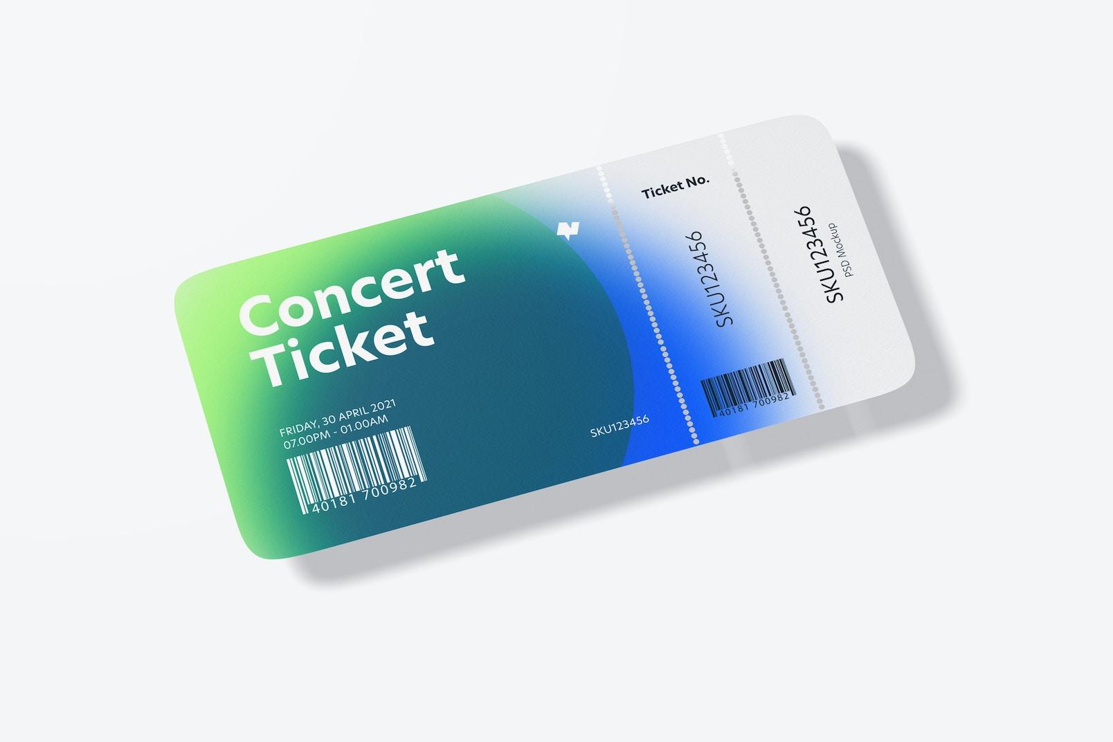 Concert Ticket Mockup