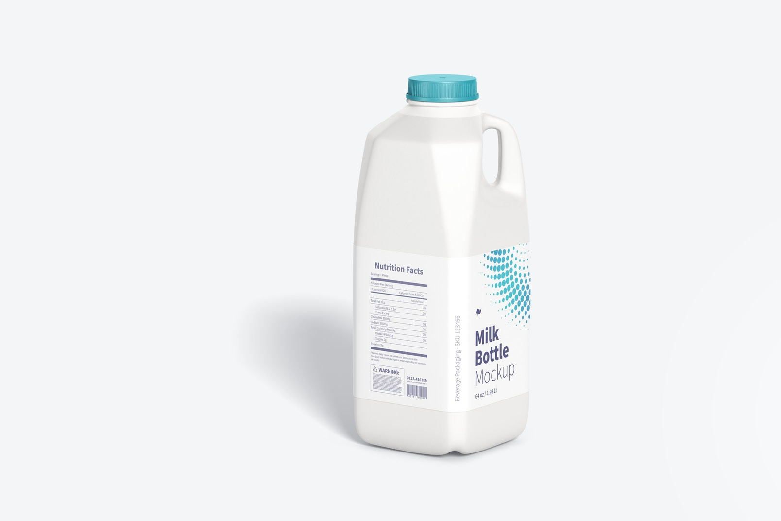64 oz Milk Bottle Mockup