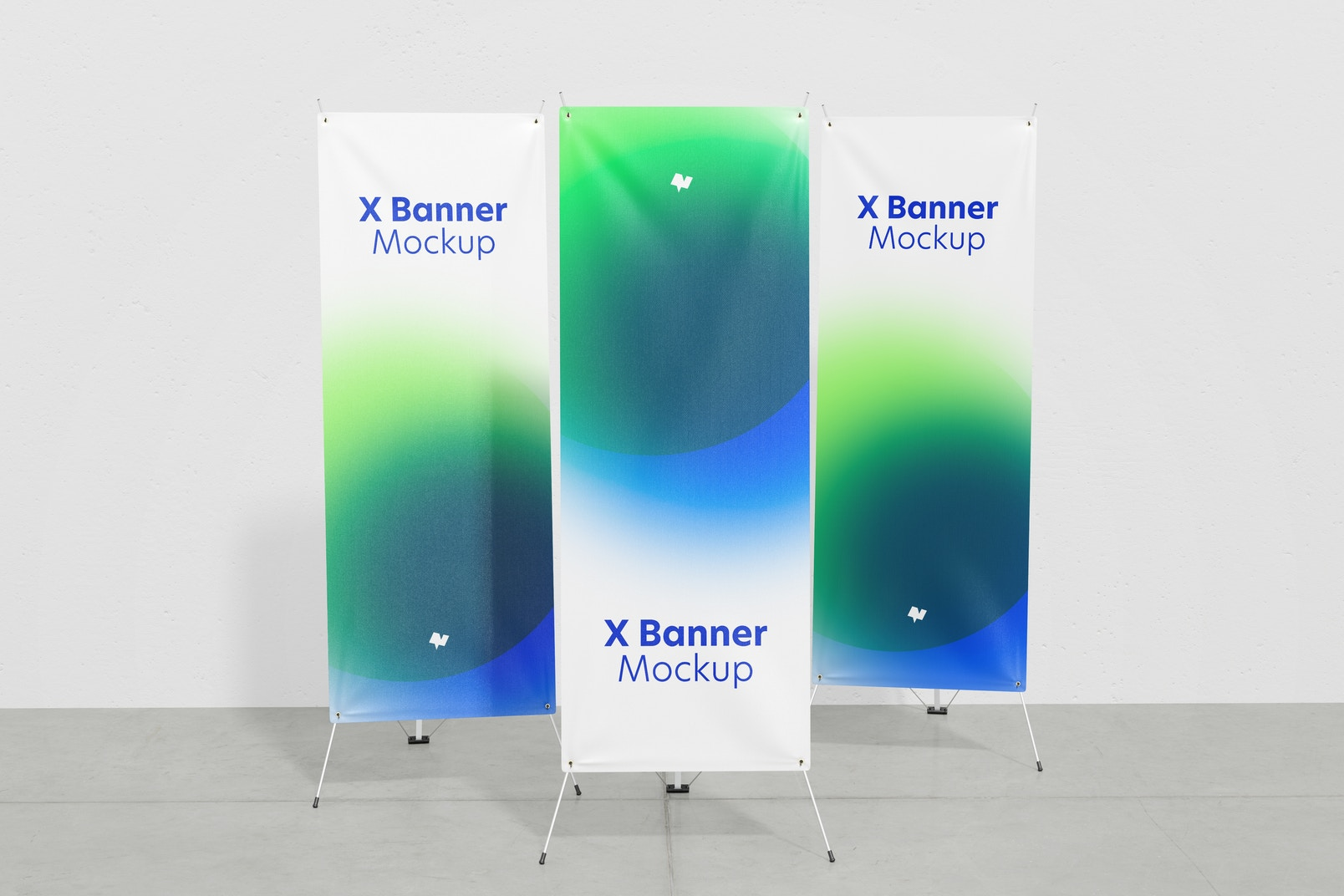 X Banner Set Mockup