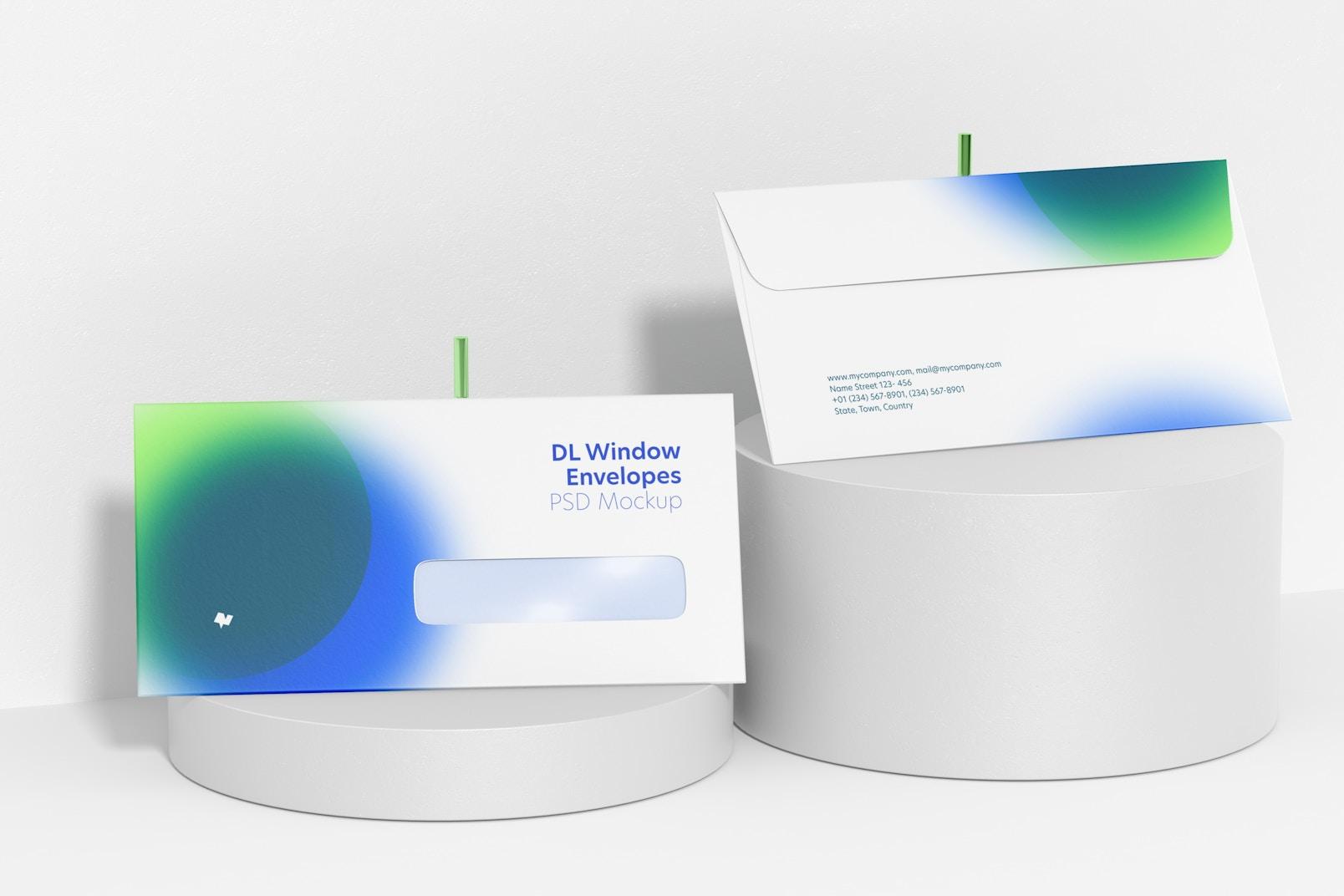 DL Window Envelopes Mockup
