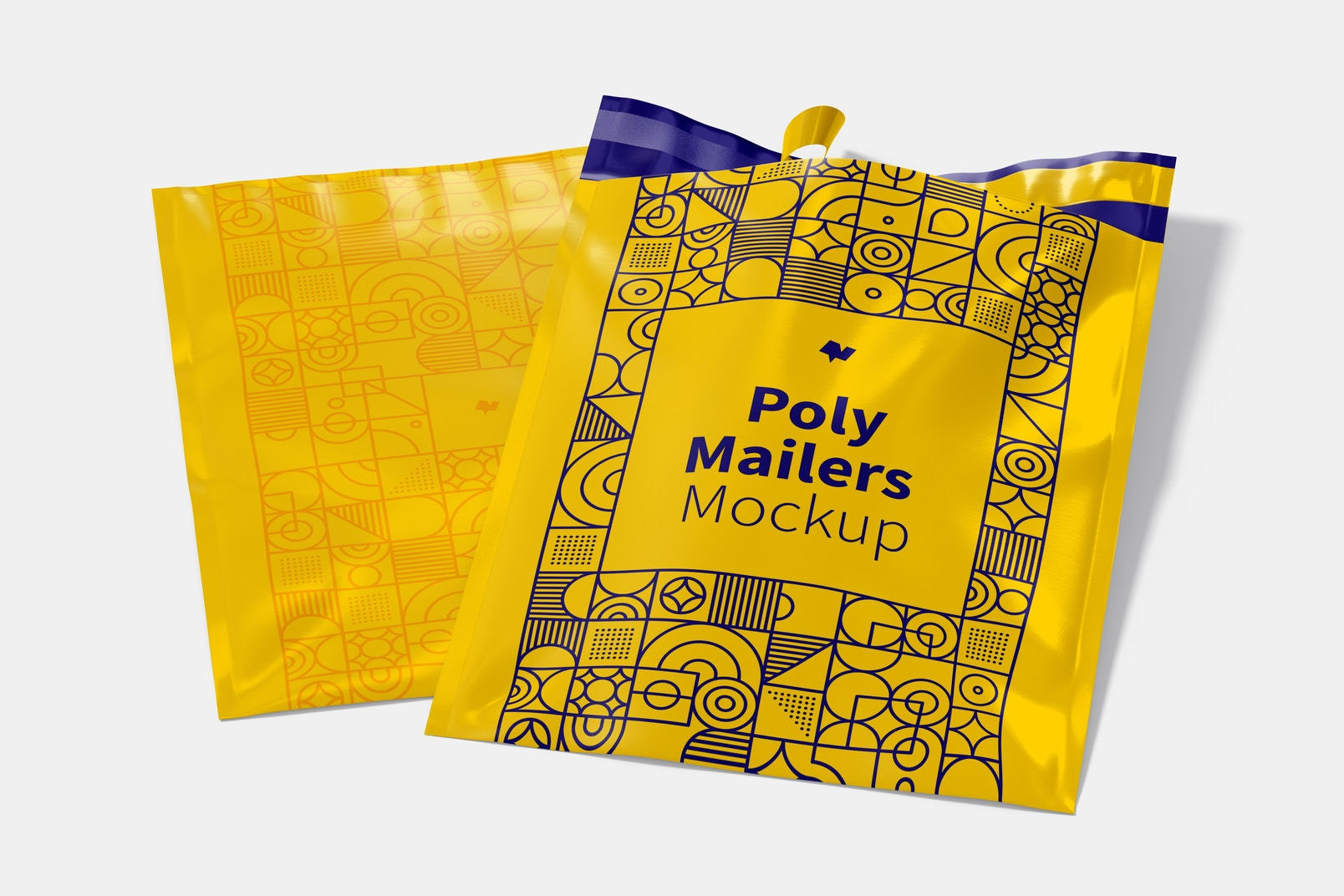 Poly Mailers Mockup, Opened and Closed