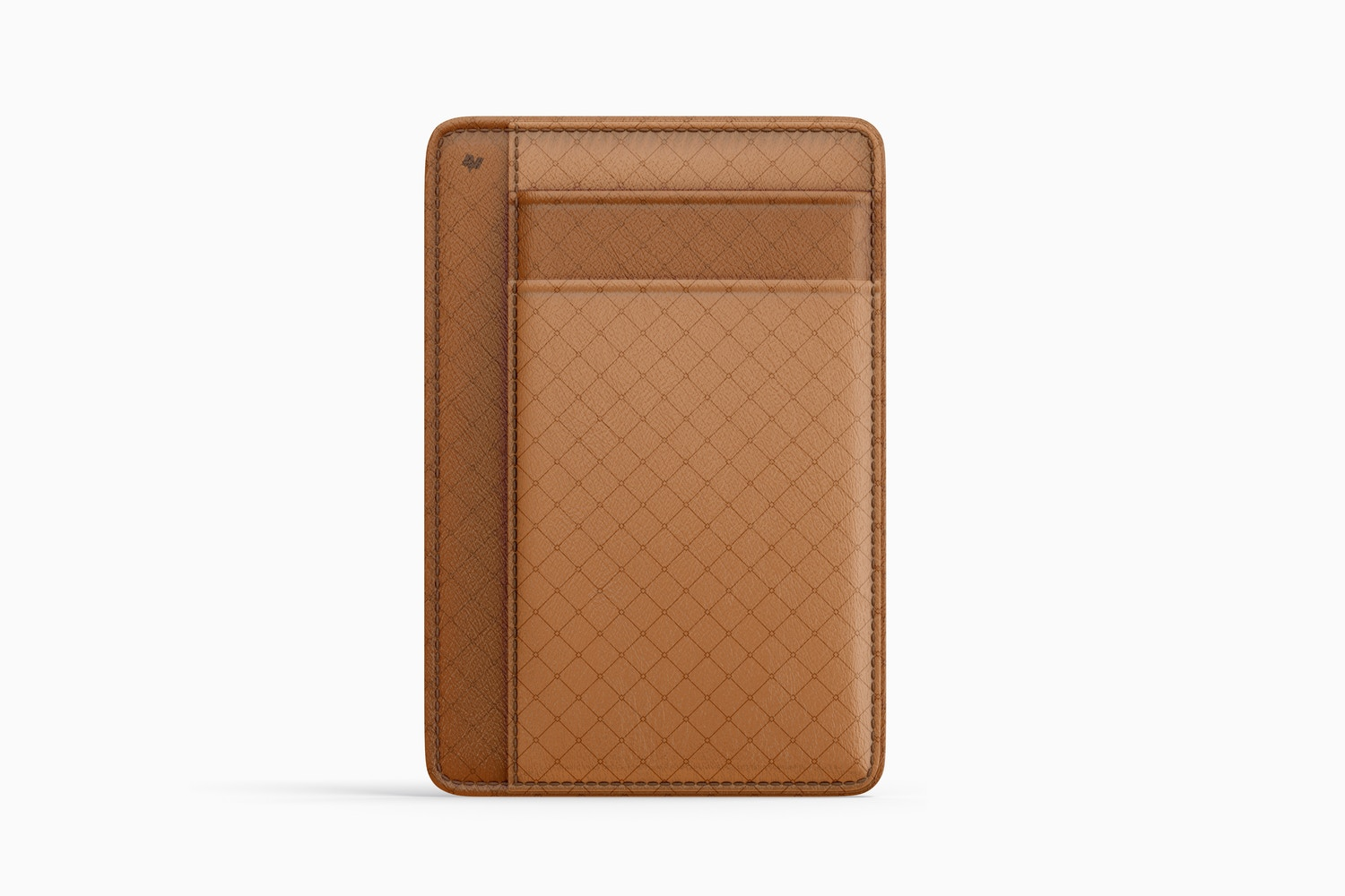 Leather Slim Wallet Mockup, Front View