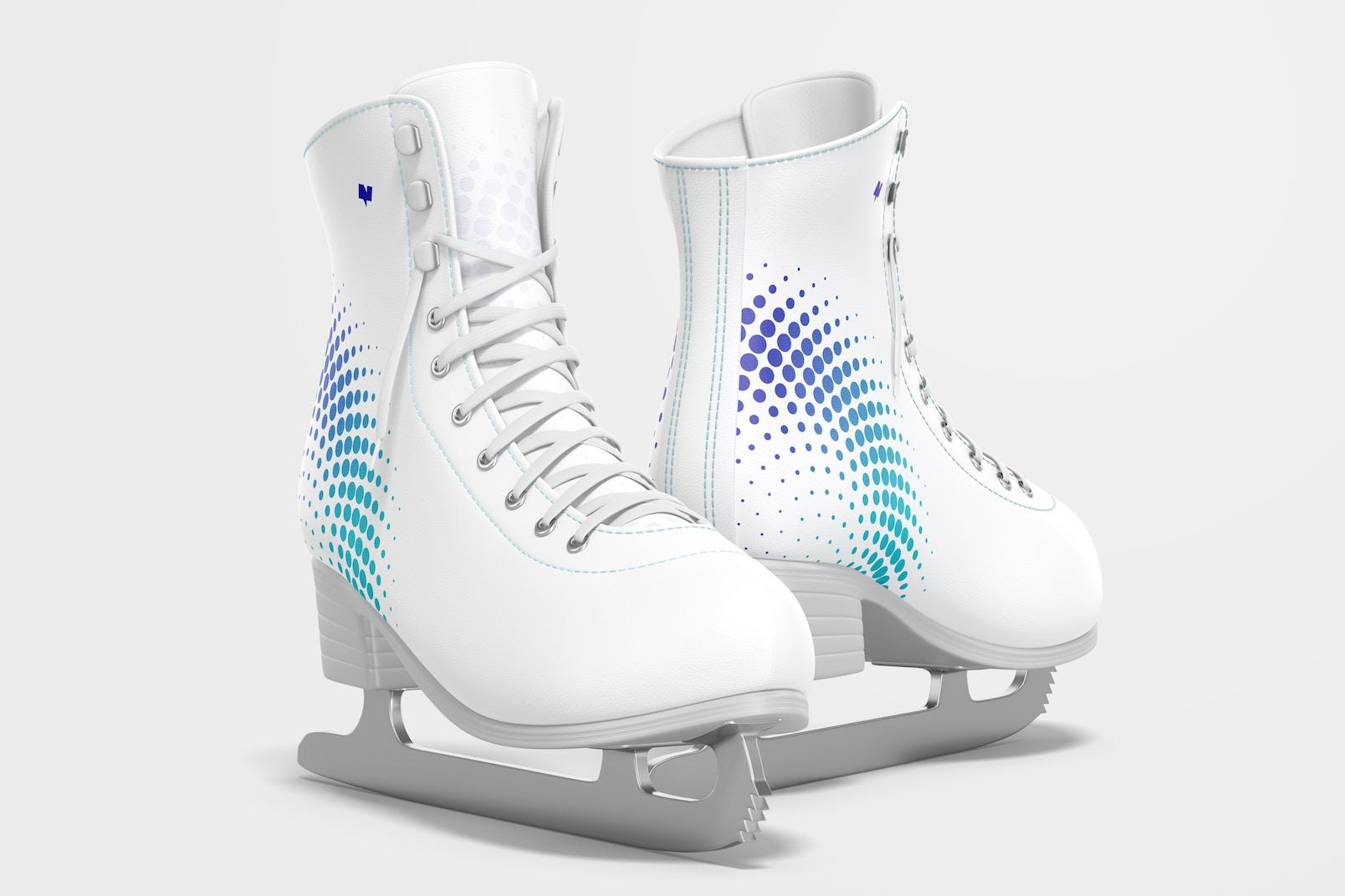 Ice Skates Mockup, Left View