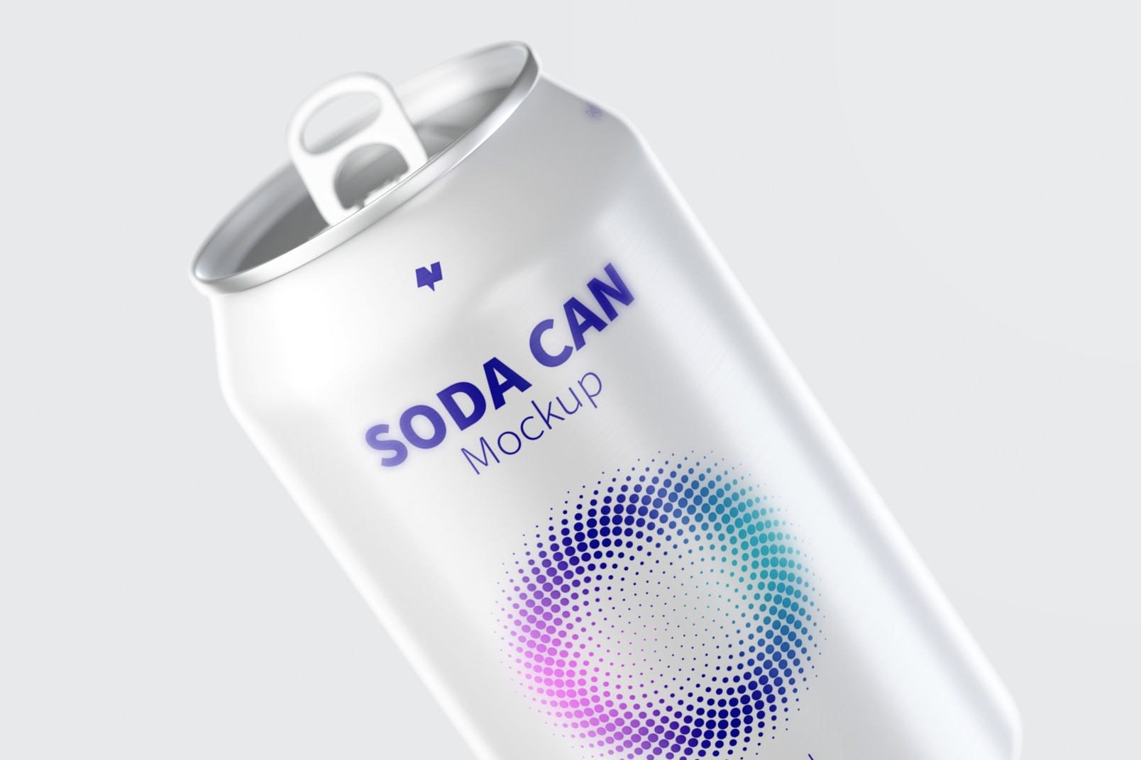 355 ml Soda Can Mockup, Close-Up