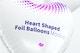 Heart Shaped Foil Balloons Mockup, Close Up
