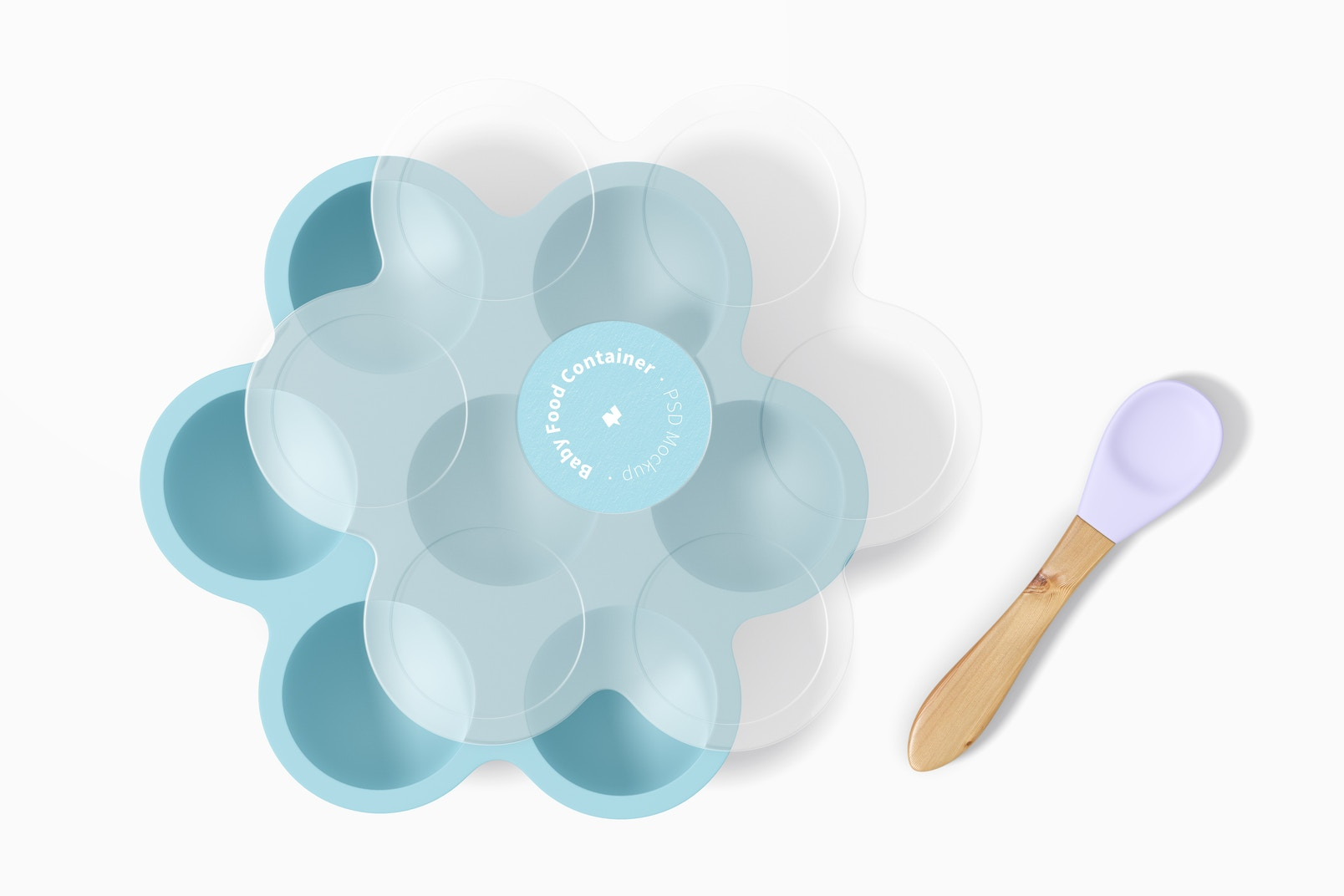Baby Food Container Mockup, Top View