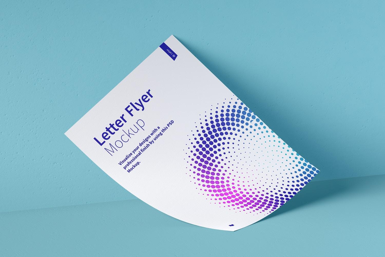 Letter Flyer Mockup 03 (5) by Original Mockups on Original Mockups
