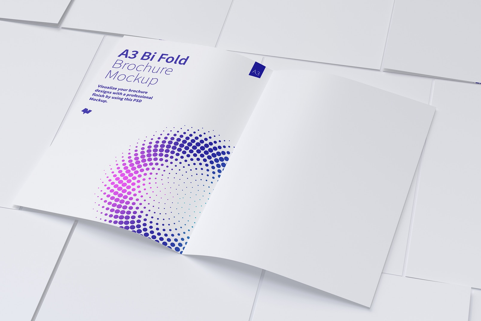 A3 Bi Fold Brochure Mockup 06