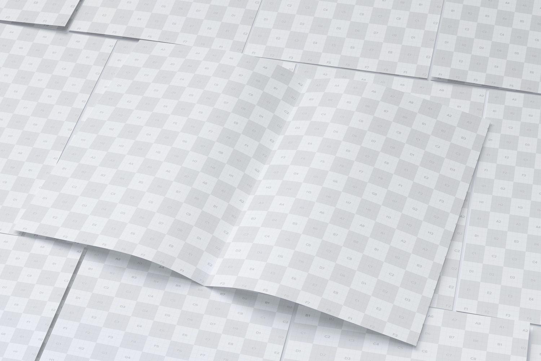 Maqueta de un Folleto A3 Díptico 06 (2) por Original Mockups en Original Mockups