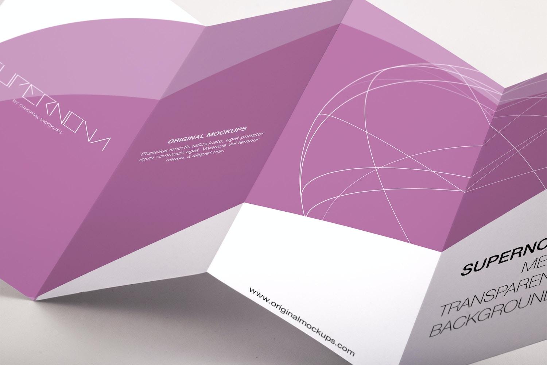 Legal Quadfold Brochure PSD Mockup 04 por Original Mockups en Original Mockups