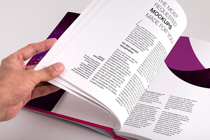 Hardcover Standard Portrait Book PSD Mockup 04