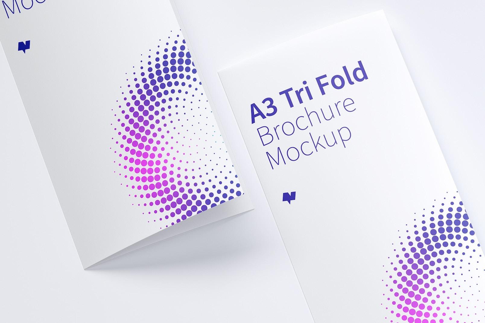 A3 Trifold Brochure Mockup 05