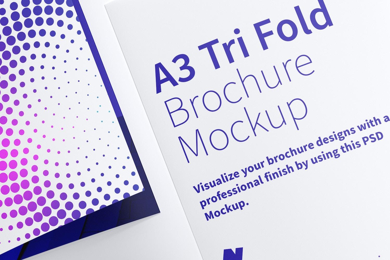 Maqueta de un Folleto A3 Tríptico 05 (4) por Original Mockups en Original Mockups
