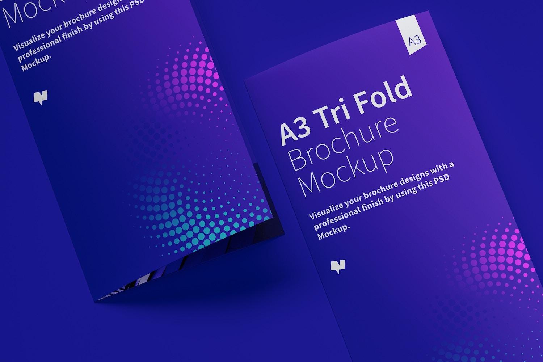 Maqueta de un Folleto A3 Tríptico 05 (6) por Original Mockups en Original Mockups