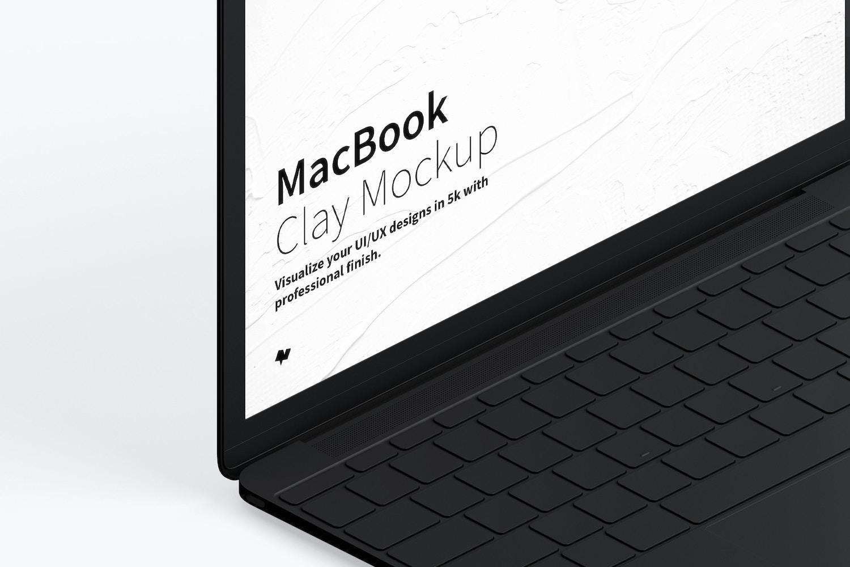 Maqueta de MacBook Multicolor, Vista Izquierda Isométrica. (3) por Original Mockups en Original Mockups