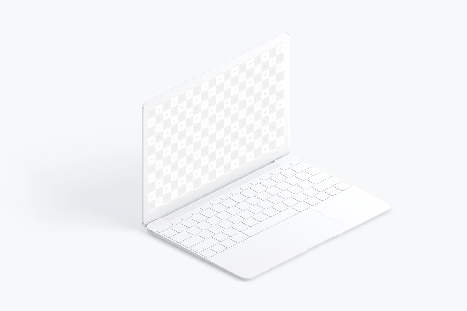 Clay MacBook Mockup, Isometric Left View (2) by Original Mockups on Original Mockups