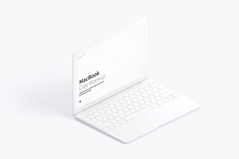 Maqueta de MacBook Multicolor, Vista Izquierda Isométrica. (1) por Original Mockups en Original Mockups