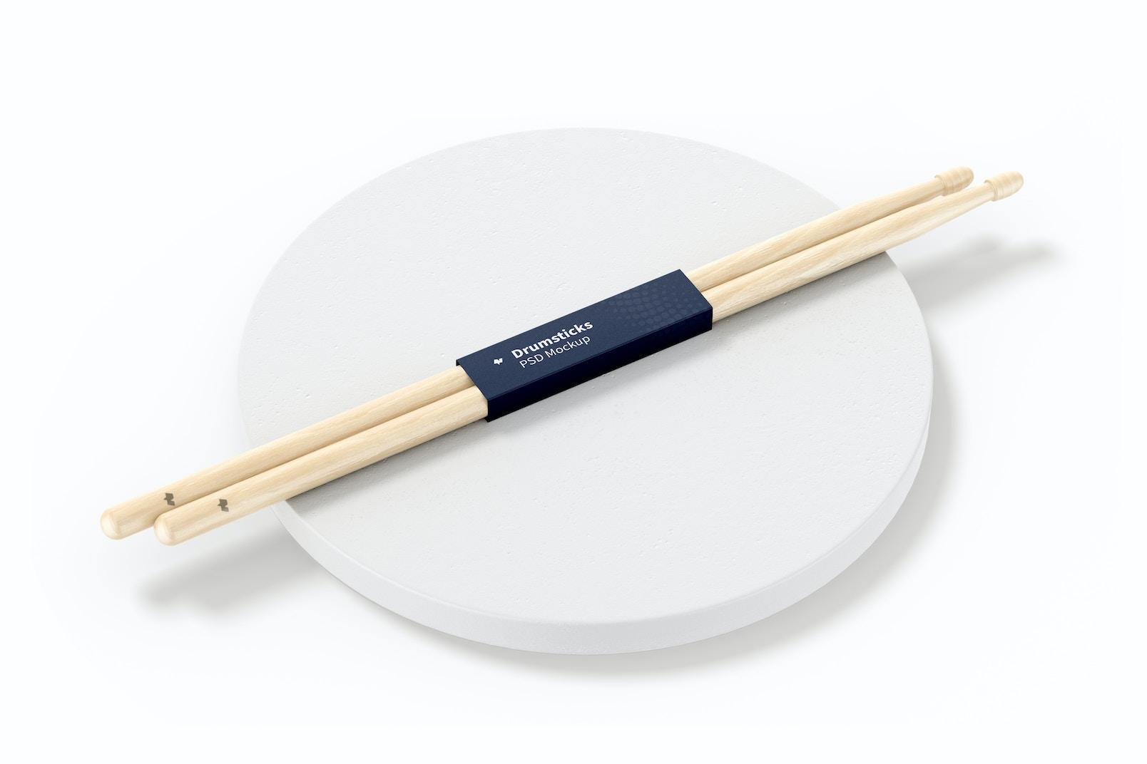 Drumsticks Mockup, Perspective