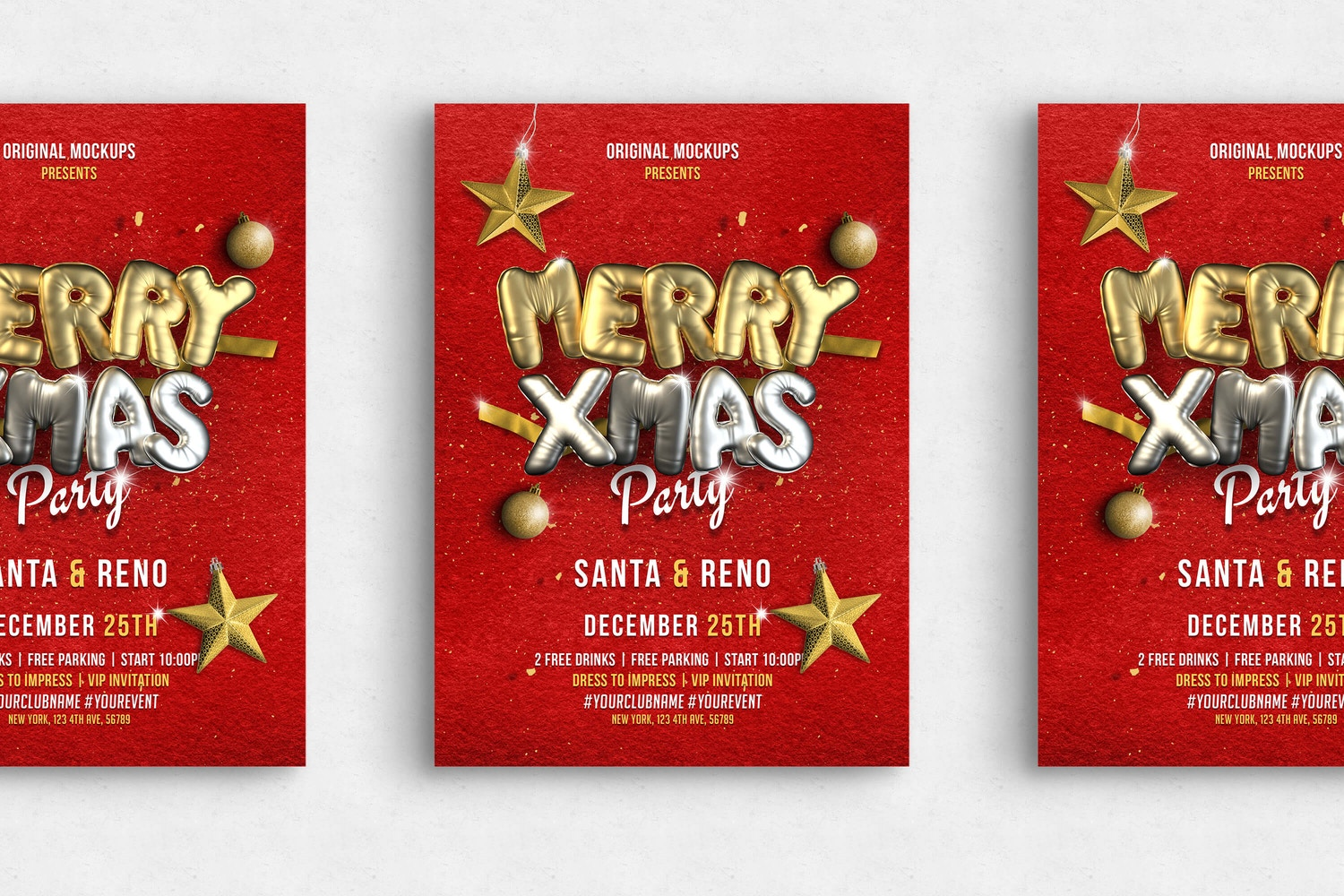 Merry Christmas Flyer 04 - Reno Bundle