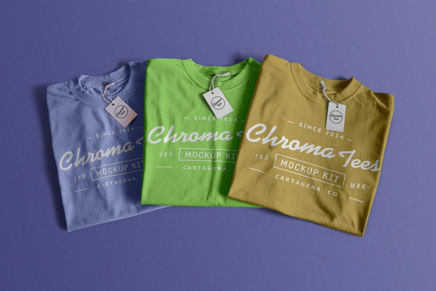 Folded T-Shirts Mockup 02 by Antonio Padilla on Original Mockups