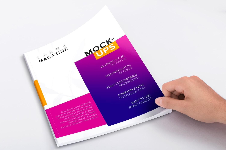 Large Magazine Cover Mockup 02