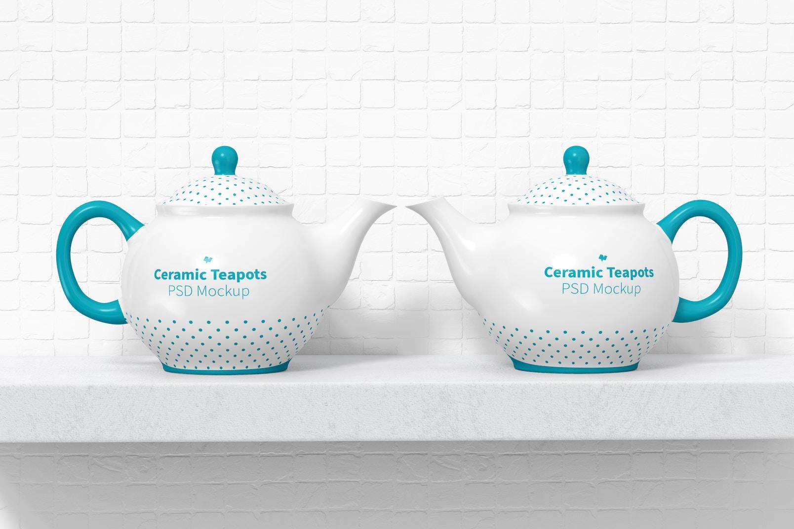 Ceramic Teapots Mockup