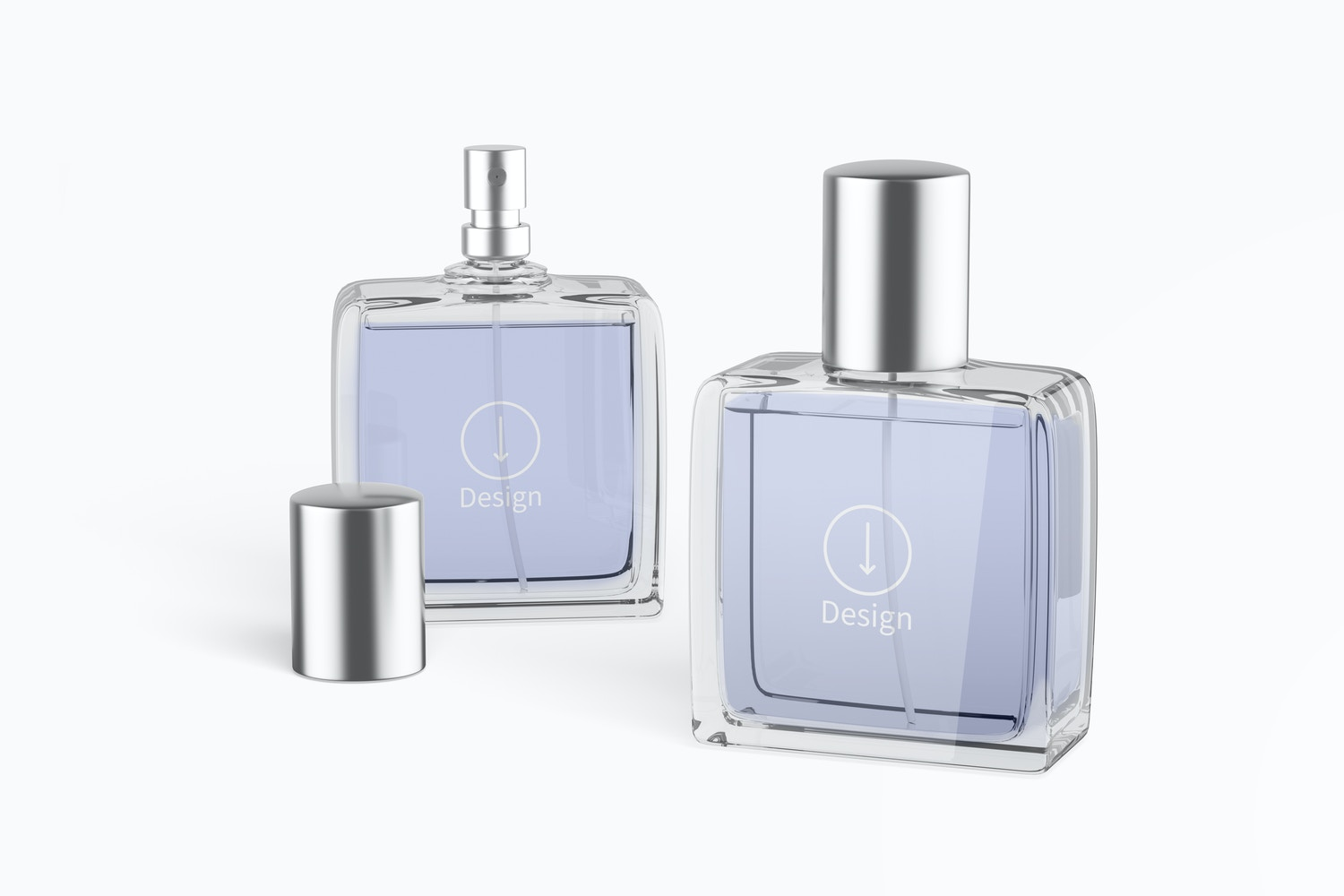 Perfume Bottles Mockup, Opened and Closed