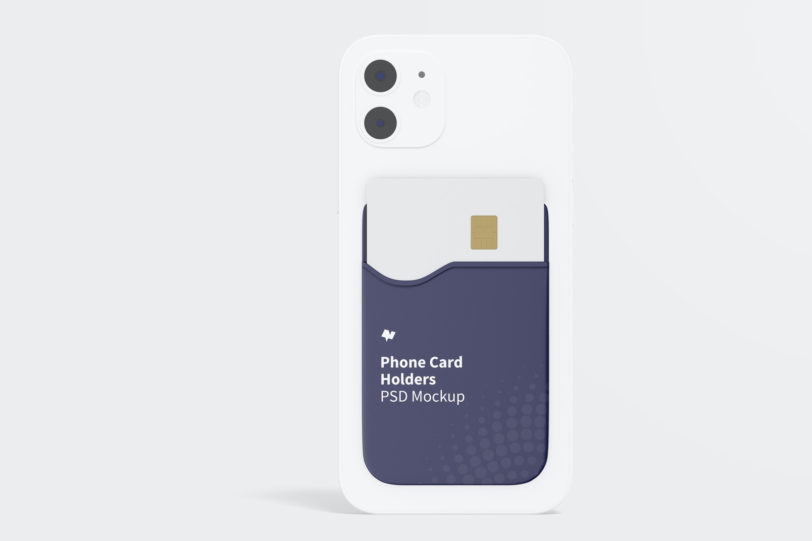 Phone Card Holder Mockup, Front View