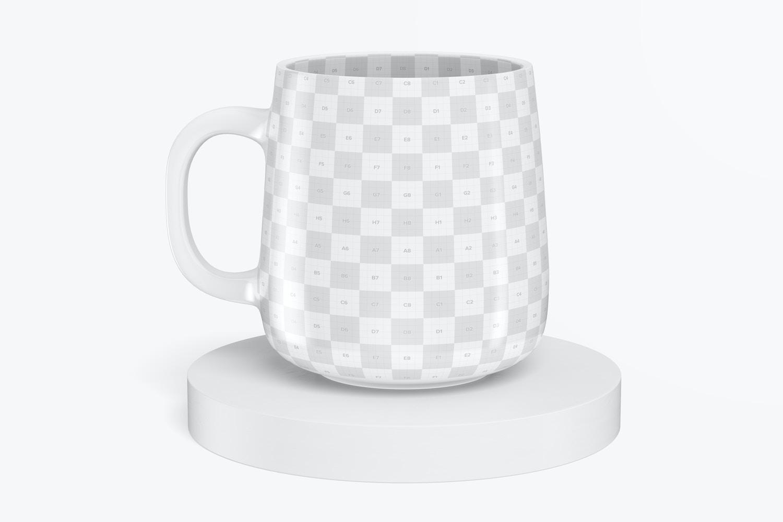 12.2 oz Ceramic Mug Mockup, Front View