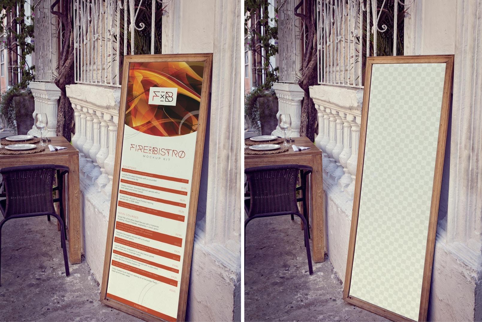Vertical Display Board Mockup
