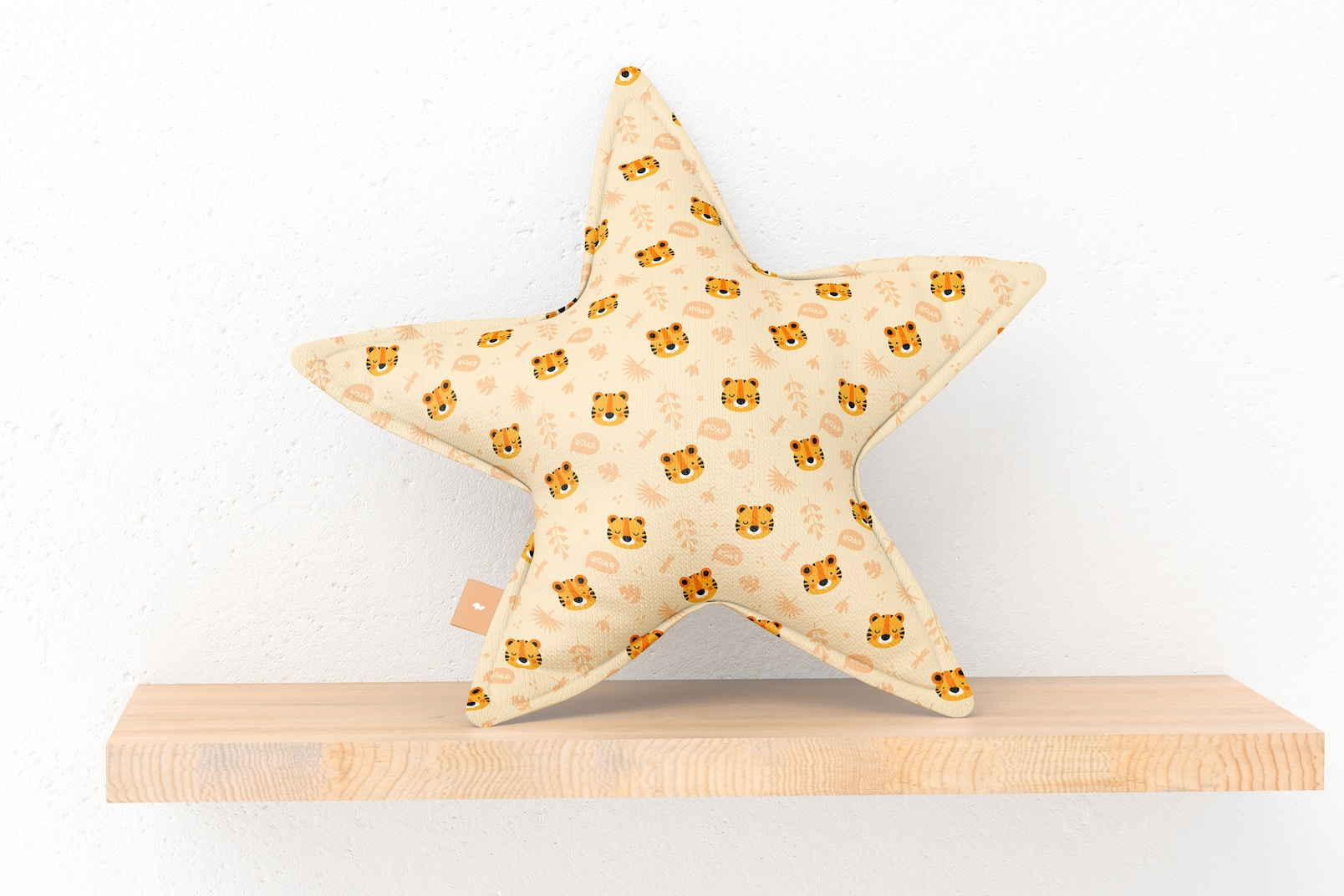Star Pillow Mockup, Front View