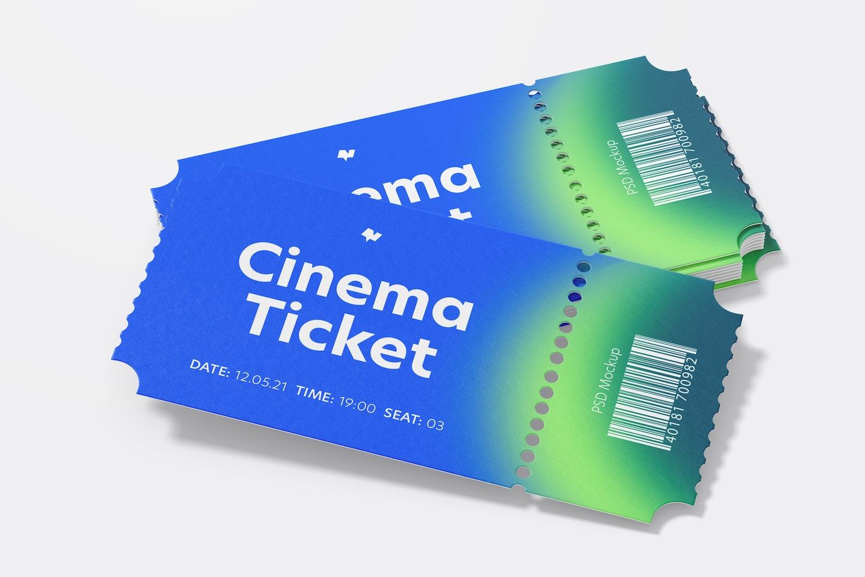 Cinema Tickets Mockup